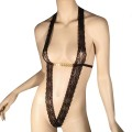Σεξυ κορμάκι με λωρίδες από δαντέλα και αλυσιδάκι στο στήθος, από την εταιρεία Afil