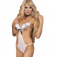 Σέξυ κορμάκι με πολύ πούπουλο στο στήθος από την εταιρεία Afil Sexygirl
