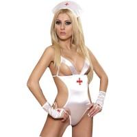 Σεξυ στολή νοσοκόμα με κορμάκι που συνοδεύεται με πανέμορφα αξεσουάρ