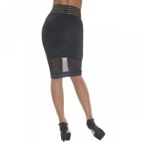Μίντι φούστα με διαφάνειες σε φανταστική γραμμή